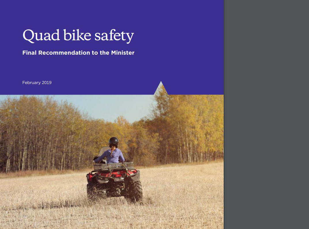 ATV Lifeguard - Release of Quad Bike safety recommendation